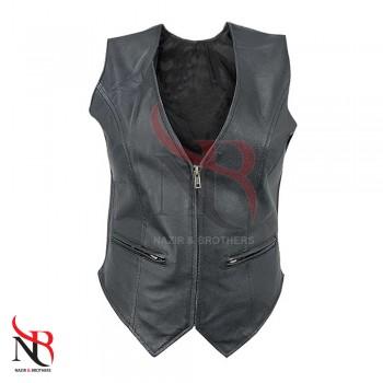 Leather Women Vest